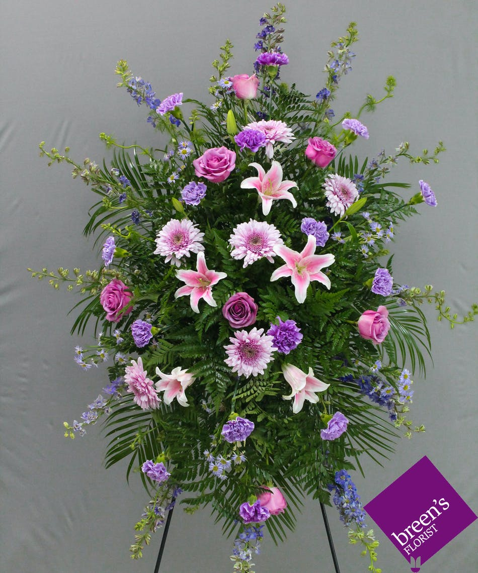 Full Of Grace Spray Funeral Flowers Houston Tx