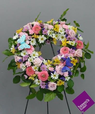 Blooming Heart Spray :: Funeral Flowers Houston TX