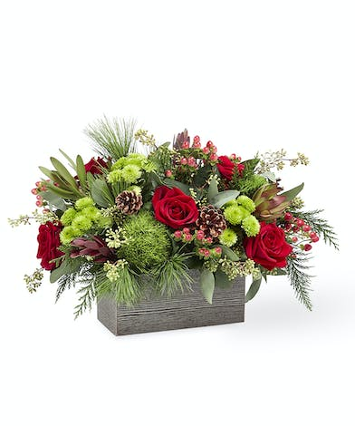 FTD Christmas Cabin 18-C7 Breen's Florist Holiday Flowers
