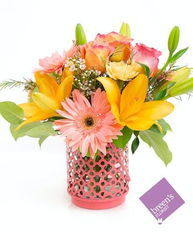 Casablanca - Pink and Orange Flowers in Houston