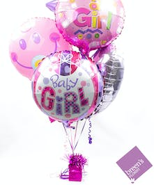 Baby Girl Balloon Bouquet | Balloons In Houston Texas