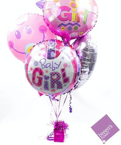 Baby Girl Balloon Bouquet | Balloons In Houston Texas
