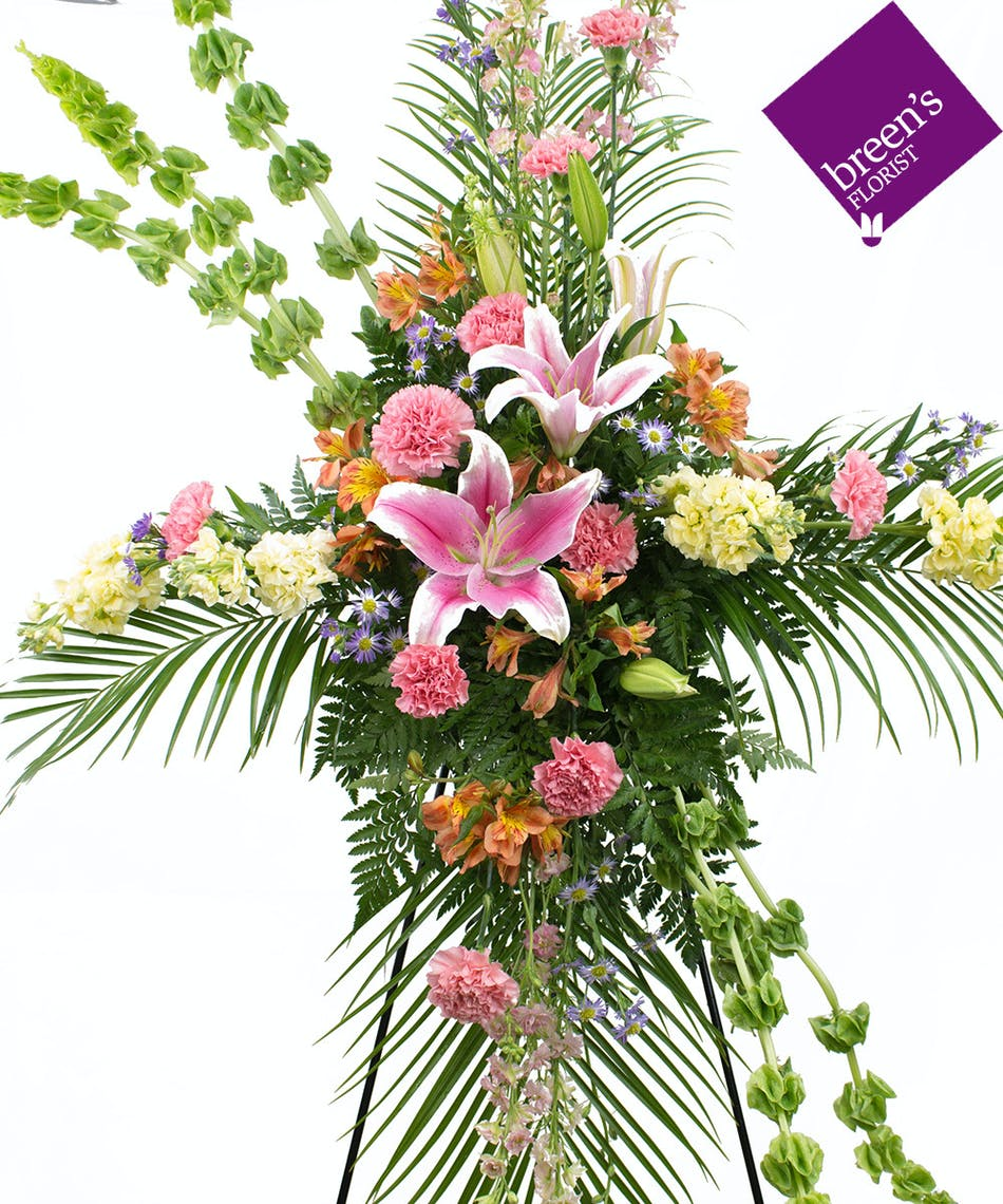 Eternal Sonata Easel Funeral Flowers Breens Florist Houston