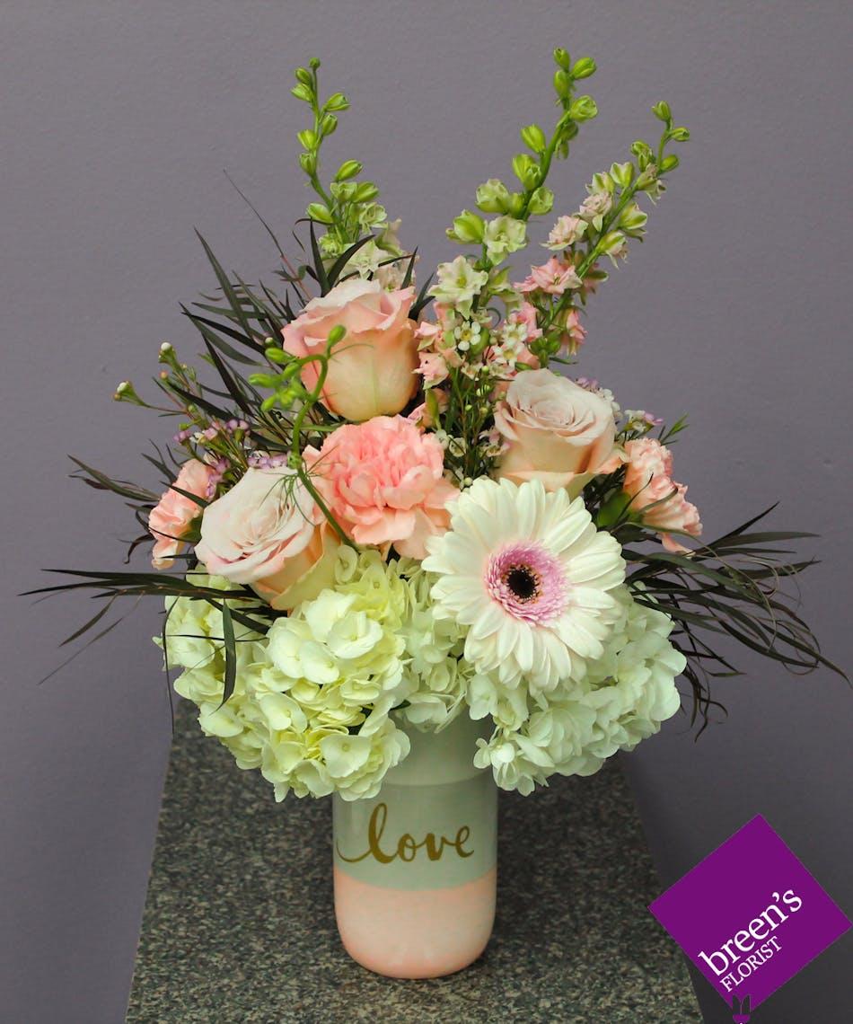 Sweet Love Pink Flower Shop Houston Texas
