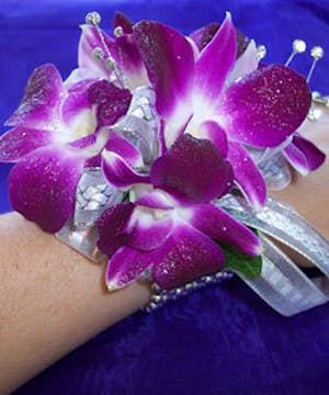Purple Pizzazz Corsage