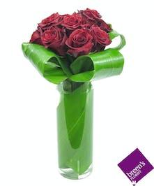 1 Dozen Modern Red Roses
