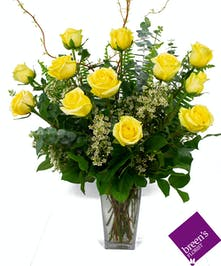 Yellow Roses - 1 Dozen : Flower Delivery Houston TX