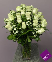 2 Dozen White Roses : Breen's Florist Houston Texas