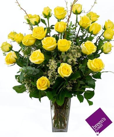 Yellow Roses - 2 Dozen : Best Florist Houston Flowers