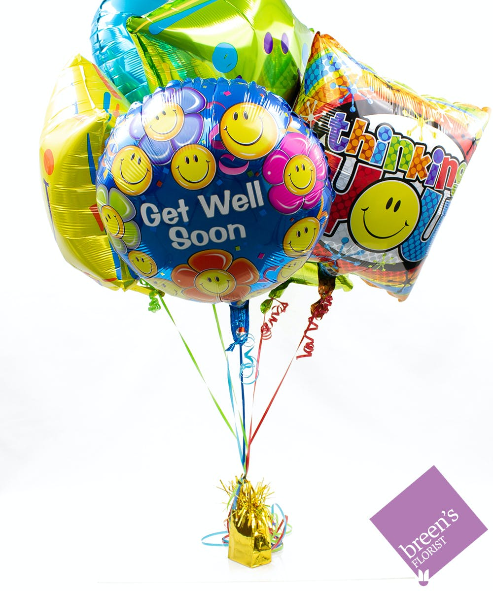 Get Well Balloon Bouquet Balloons In Houston Texas
