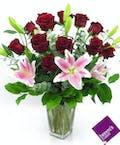 1 Dozen With Lilies