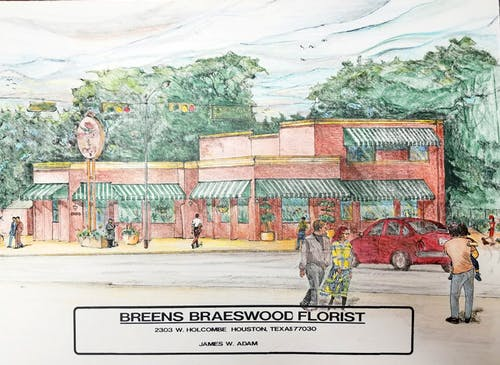 An early artist's rendering of a then-unbuilt Breen's location, circa 1990