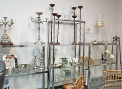 Just a selection of the lovely candlesticks and decorations available in our showroom